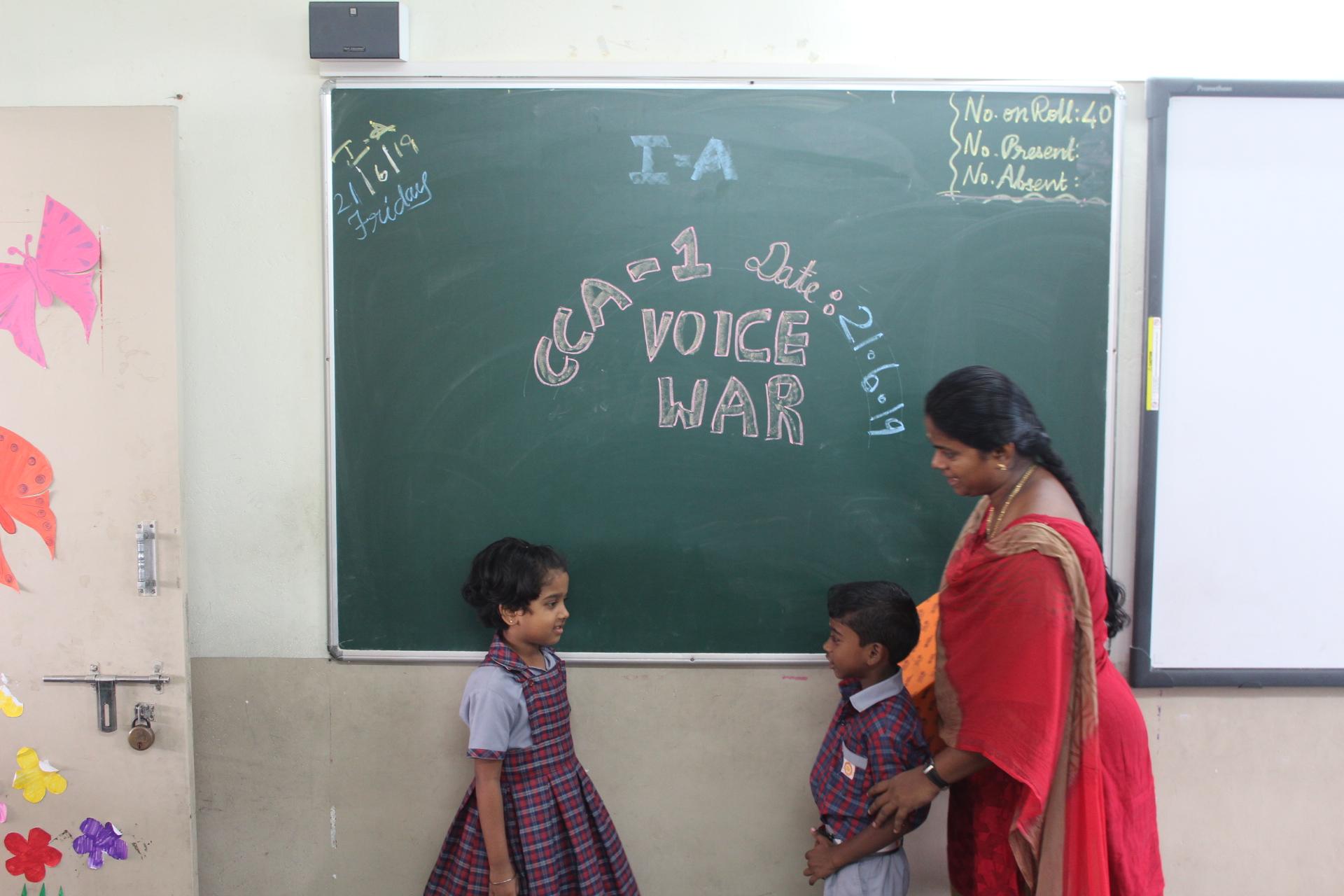 Voice war between two cute kids