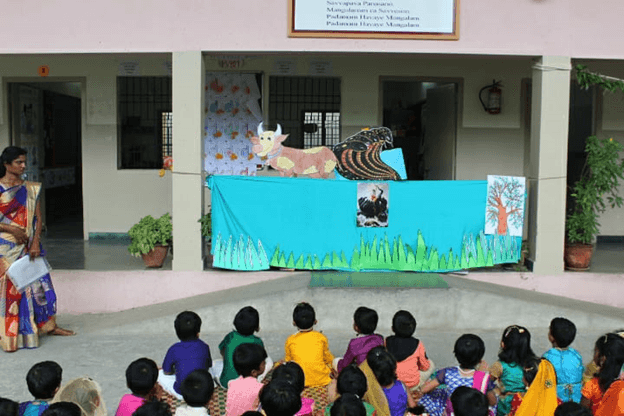 Krishna and Kaliyan puppet show – witnessing the evidence of merciful Krishna….