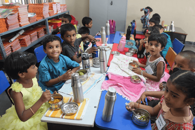 Our cheerful Kids enjoyed the session and learnt the table manners…
