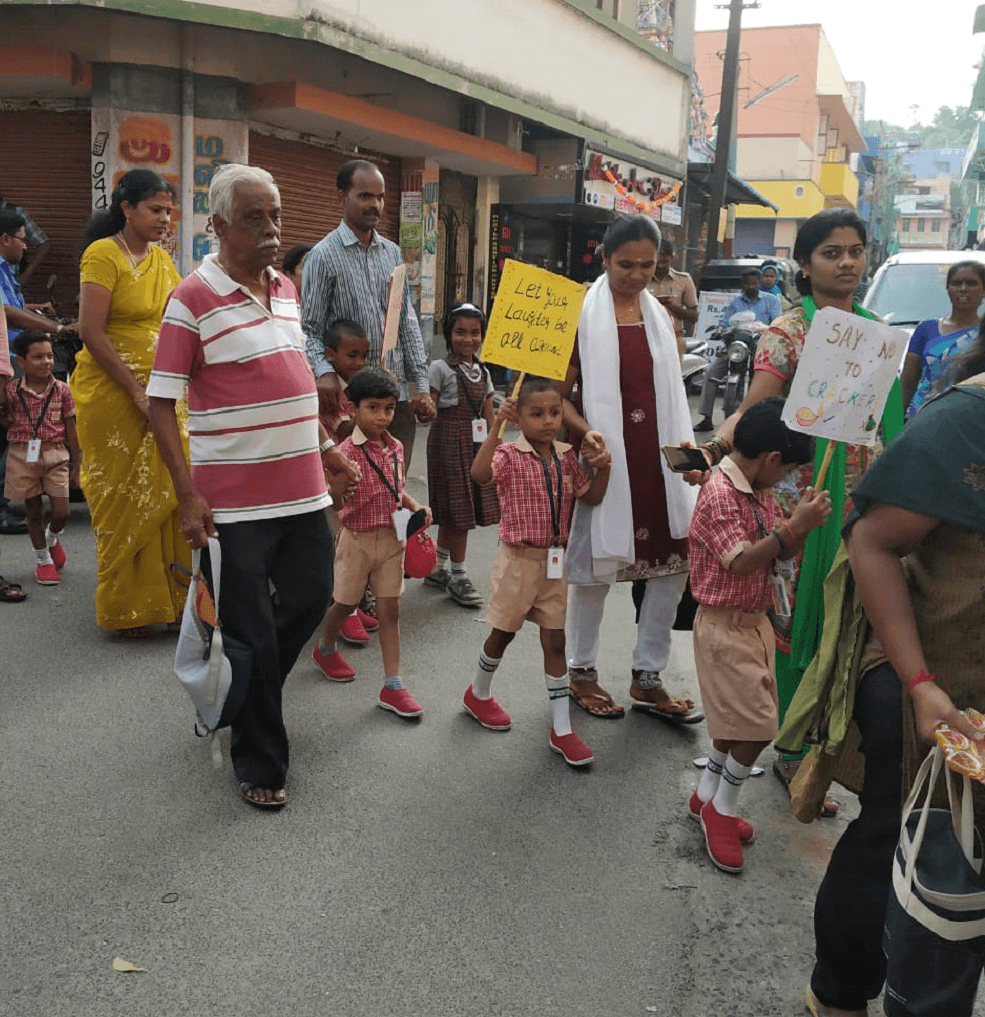 UKG eco- warriors along with their parents