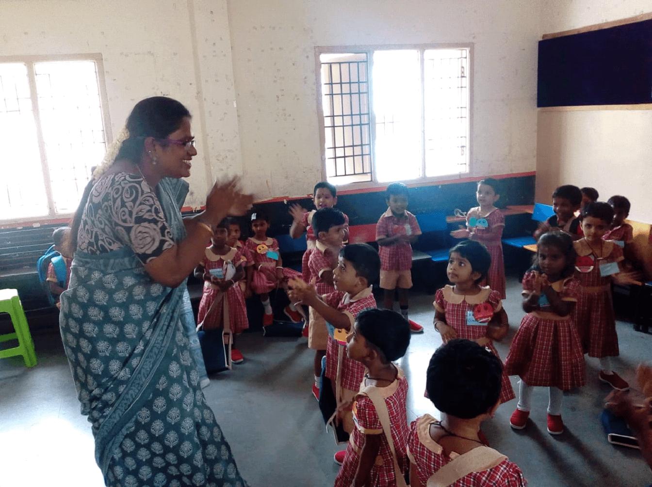Energetic teacher……Energetic kids…….