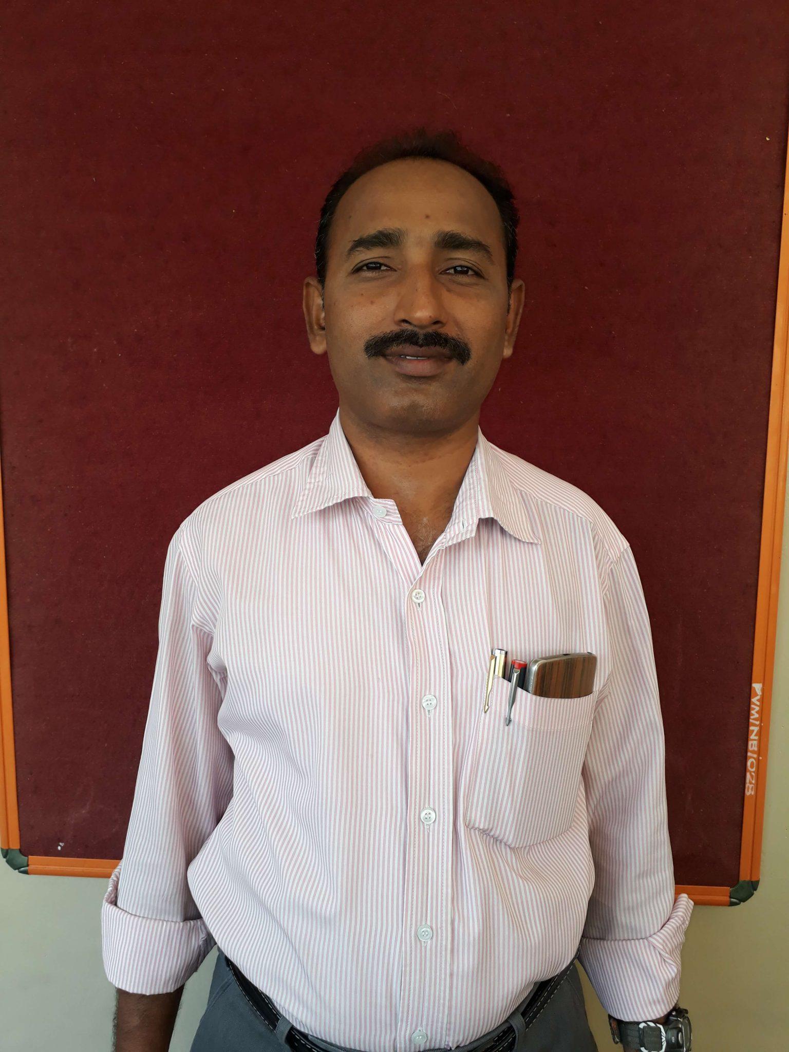Mr. Murugesan M.Sc., M.Ed Chemistry department