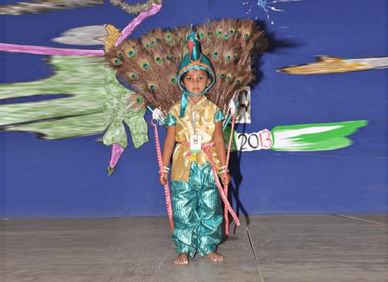 A Spectacular peacock dance.