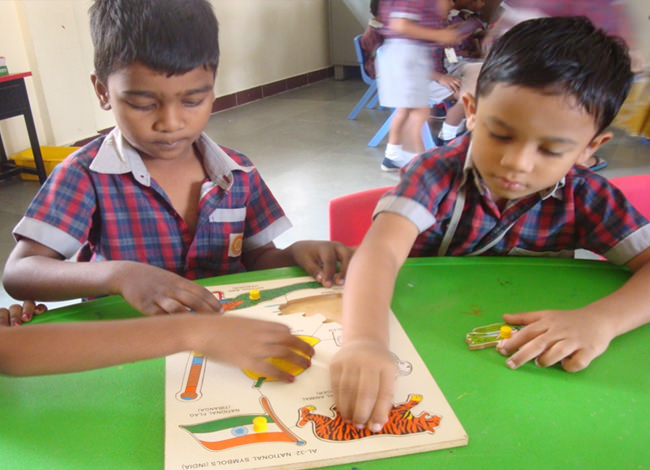 Puzzles : To develop the fine motor development.