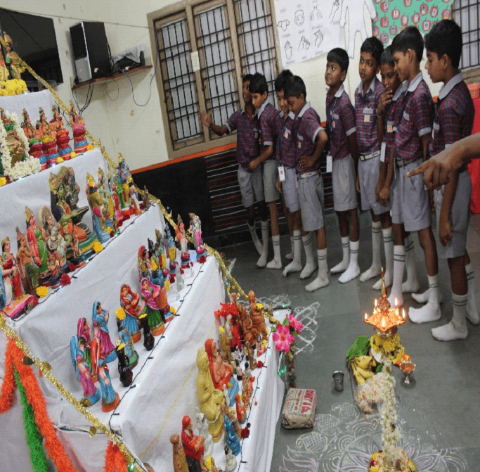 Children celebrate each day of Navaratri with ever growing zeal.,