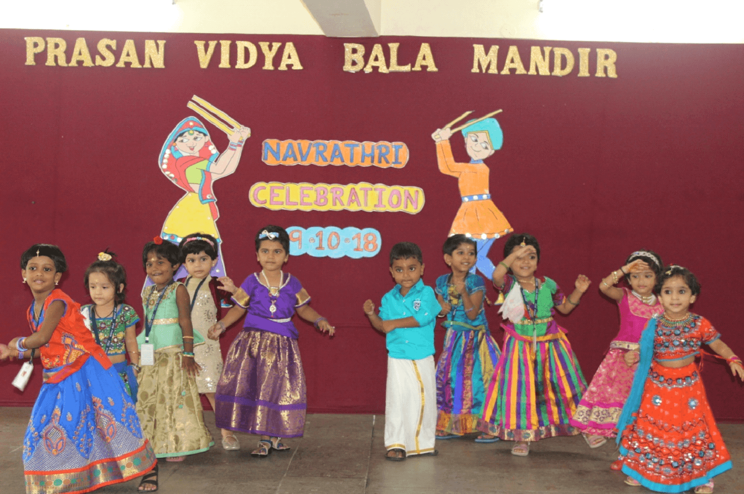 Awesome dance by our lovely Pre-KG kids