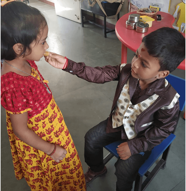 I love my sister… Happy Rakhi dear…