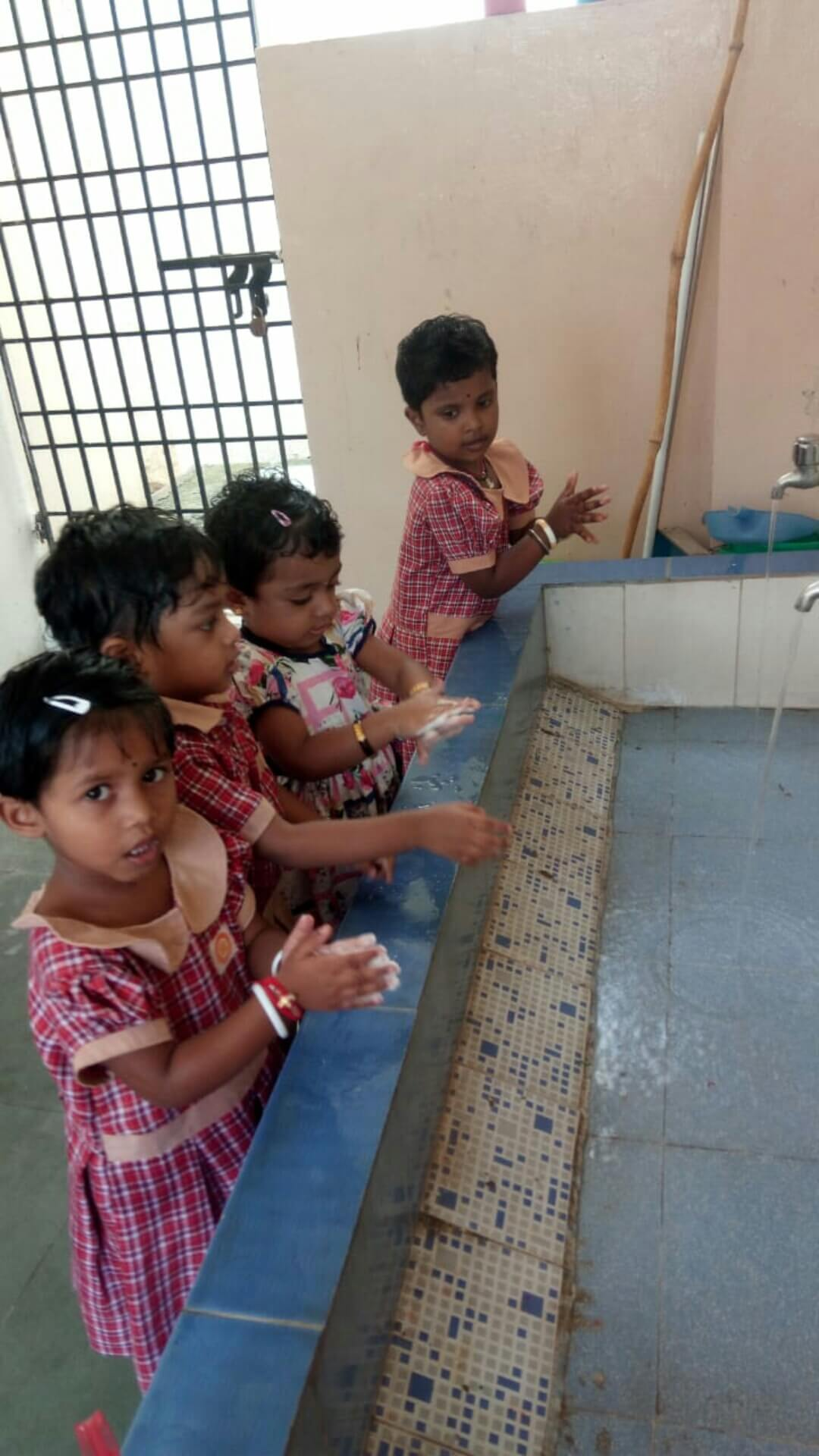 Clean hands are safe hands and we are washing hands happily...