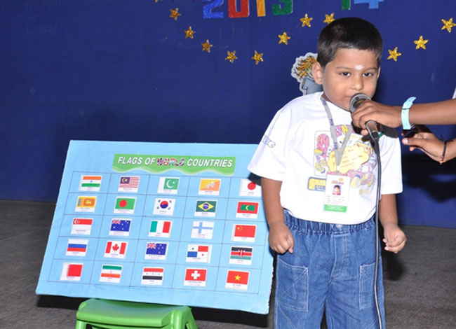 Little junior is renowned in identifying the names of the flags .
