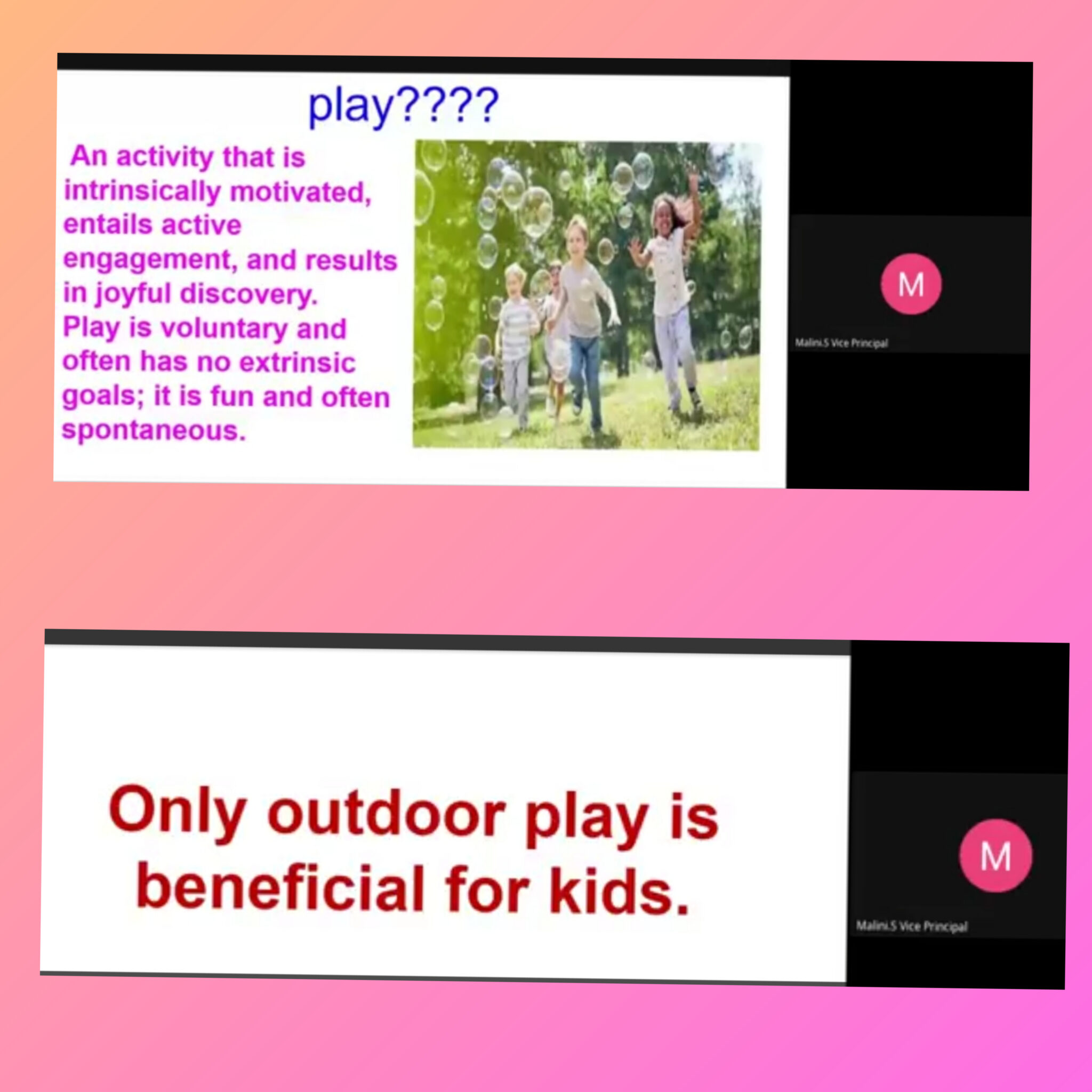 'Play is powerful'