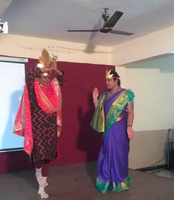 Play on Narakasura vadha marks  diwali... visual treat by teachers