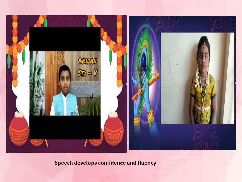 Speech develops confidence and fluency