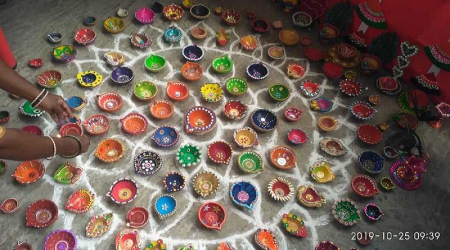This Diwali only Diyas... No crackers